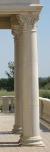 Straight Smooth Corinthian Cast Stone Columns