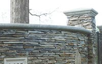 Cast Stone Wall and Pier Caps for landscaping