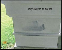 Dirty Cast Stone to be Cleaned
