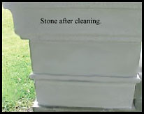 Cast Stone after Cleaning